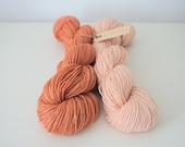 Madly in Love sock set on Wool/Silk/Ramie sock yarn
