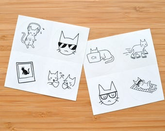 Coo Cats Sticker Squares