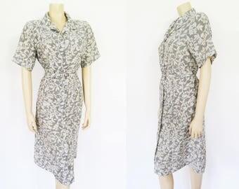 UK14, Vintage Shirt Dress, Floral Dress, Ladies Clothing, Boho Dress, PinUp Dress, Clothing, Ladies Dresses