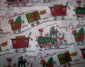 Merry Christmas Happy New Year 100% Cotton Fabric #313