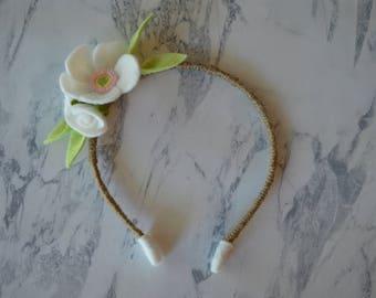 Apple Blossom Mini Floral Headband