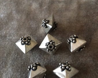 Bali Sterling Silver Dome Shaped Beads 10mm