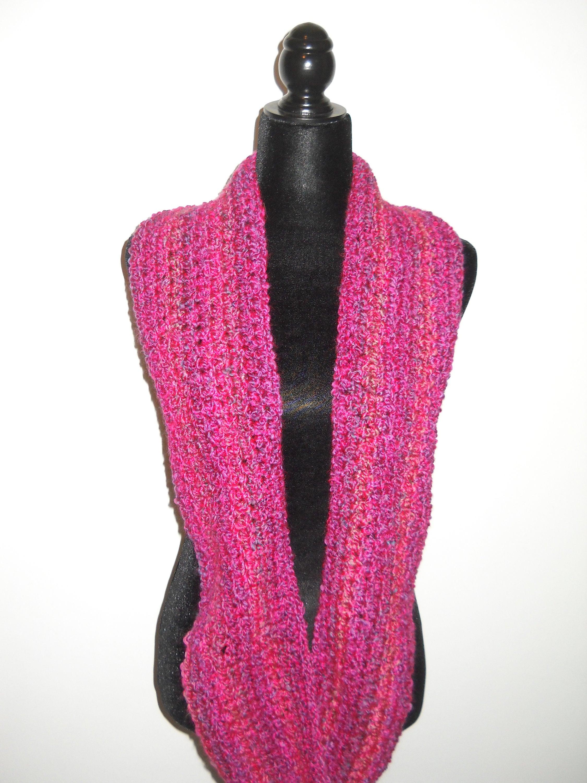 il scarf infinity knit listing en pink fuchsia women for sg