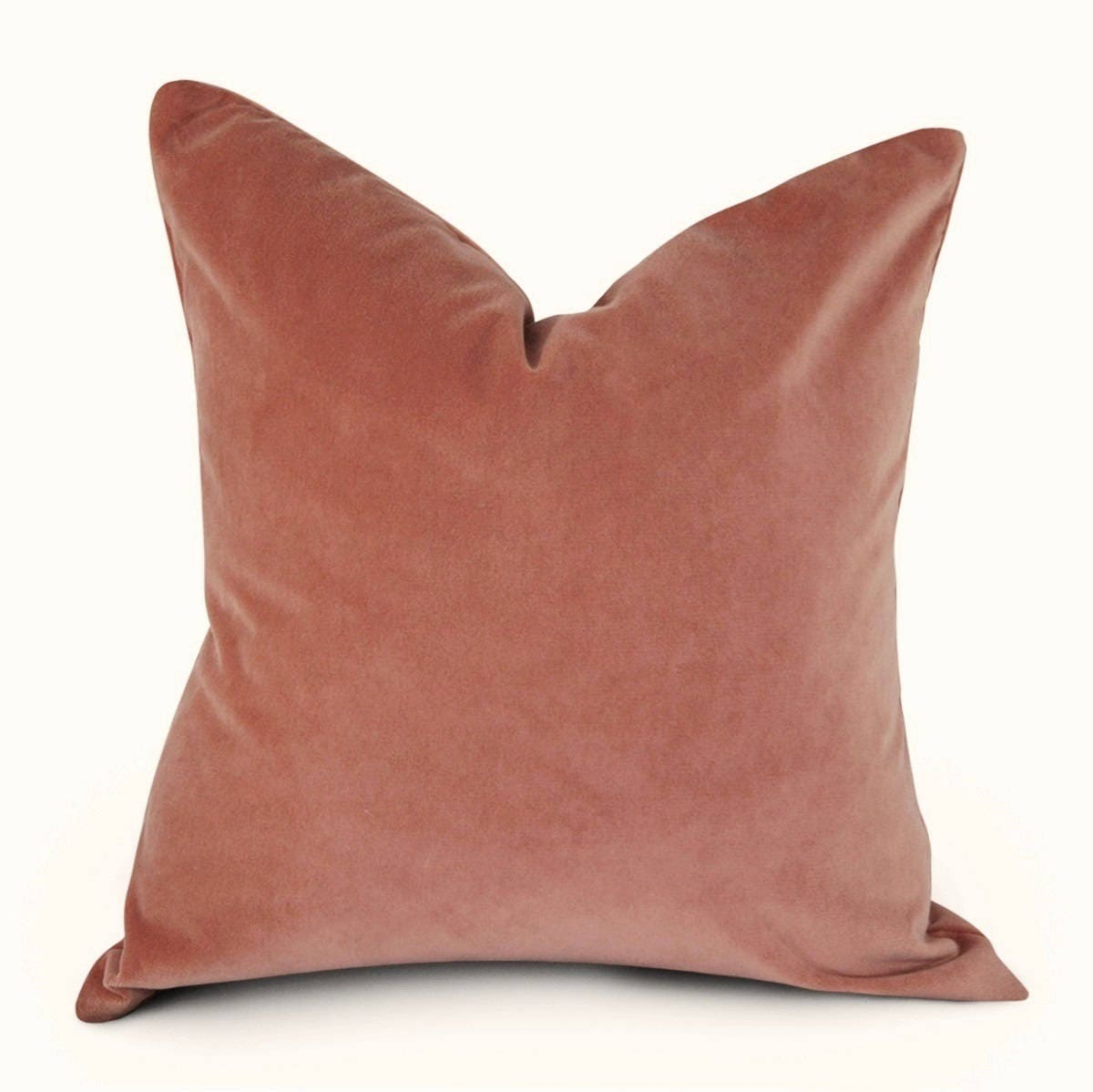 Coral Velvet Pillow Cover In Assorted Sizes
