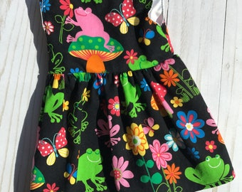 "18"" Doll Dress to Fit Like American Girl Doll Clothes, Madame Alexander, 18 in Doll Clothes, Bitty Baby, 18"" Doll Clothes, 18 Inch Doll Frog"