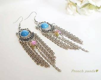 Earrings Silver earrings, boho style, gypsy
