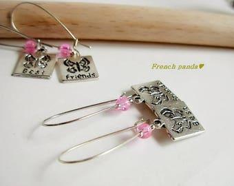 """Set of 2 pairs of earrings """"best friends"""""""