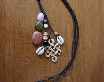 Earth Tone Cluster Necklace