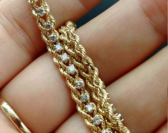 14k Gold Diamond Bracelet Stunning
