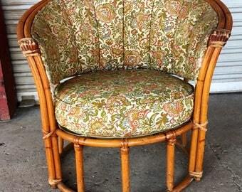 Vintage Rattan Tub Chair by Heywood Wakefield