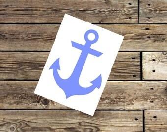 Anchor decal - anchor sticker - car decal - window sticker -