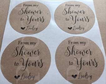 Shower stickers - favor stickers- baby shower stickers- wedding shower stickers