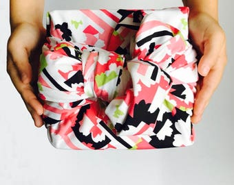 Furoshiki wrapping cloth / Floral Patch Red Design