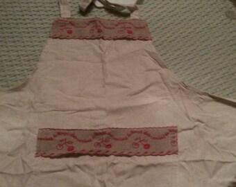 Cherry red apron