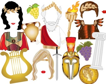 """Toga Party Photo booth Props: """"ROMAN THEMED PARTY"""" Ancient Rome,Birthey party prop,Roman decorations,Printable party prop, Party Photobooth"""