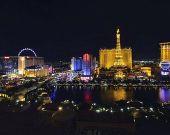 Las Vegas night view,digital, download,wall decor, picture frameScenic