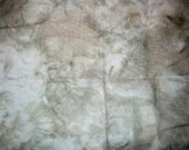 Mossy 28 count hand dyed evenweave cross stitch fabric