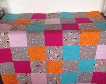patchwork OWL blanket