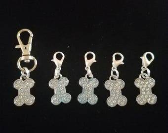 Crochet Stitch Markers Large Dog Bone