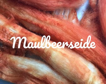 Combed Mulberry silk hand dyed No. 193