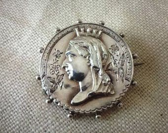 Antique Victorian Silver Brooch