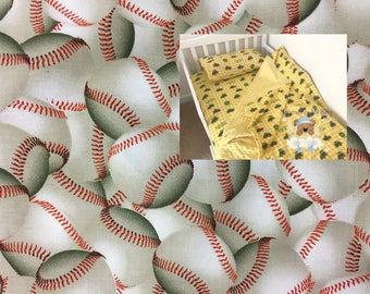 Toddler Bedding Set Baseball Toddler Bedding Blanket Baseball Fitted Sheet Pillow Case 100% Cotton Ball Toddler Bedding Twin