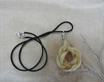 Celtic necklace genuine horsehair