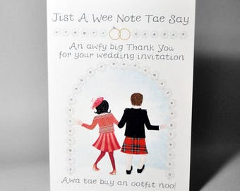 Wedding Acceptance Ootfit Card WWWE85