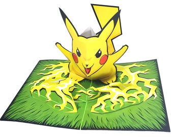 Pikachu - Paper Toy Pikachu - DIY Paper Craft Kit - 3D Paper Figure Pikachu