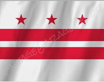 District of Columbia - Washington D.C. State Flag on a Metal Sign