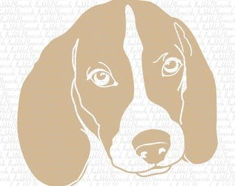 Beagle Svg Clipart, Dog Ai vector art by SpeecchBubble