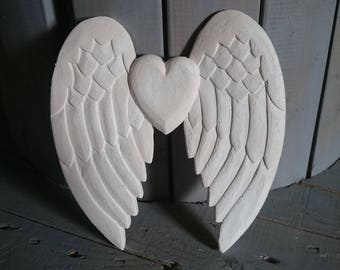 Rebel wings... Large wings plaster decor wall shabby
