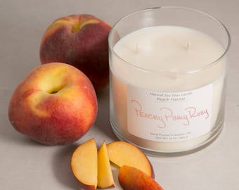 Peach Nectar 16oz Soy Wax Candle