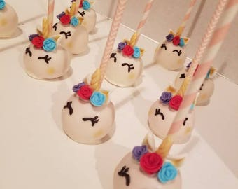 Unicorns cake pops (order of 13)