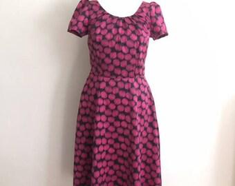 Pink Black circle dress