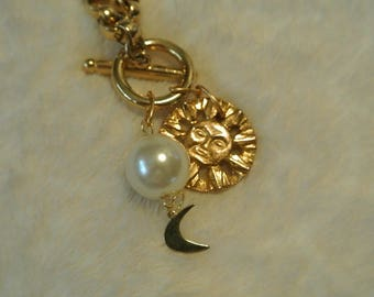 Cute Sun and Moon Necklace