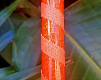 "Hula Hoop ""Orange HoloGlitter"" - Collapsible Polypro or HDPE"