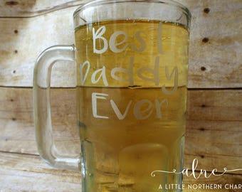 Best Daddy Ever Beer Mug, Father's Day Beer Mug, Dad Beer Mug, Custom Beer Mug,  Beer Mug, Father's Day Gift