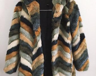1970s Faux Fur Jacket