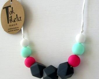 Breastfeeding or teething necklace. Teething necklace. Silicone Bead Teething Jewellery. MOD.4