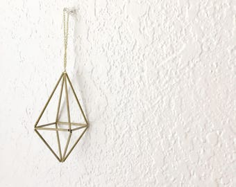 DIY Pattern Only (w/ video): Geometric Octahedron Himmeli - Coffee Table Decor - Minimalist Orb - Brass Cube  - Airplant Mobile - Wedding Ce