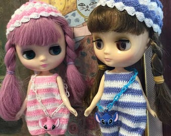 Crochet Jumpsuit Set  for Middle Blythe - stitch and angel