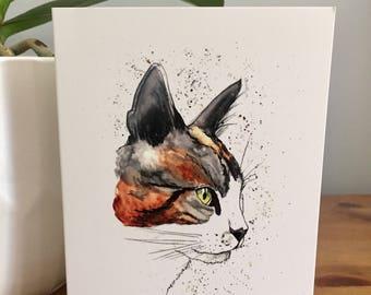 Rosie the Cat greetings card