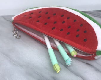 Watermelon Pencil Case Back to School Supplies Backpack Accessories