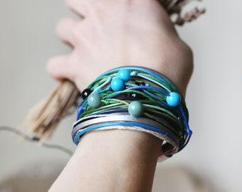 Boho bracelet Hippie bracelet Festival bracelet Beaded bracelet Colorful bracelet Yoga bracelet Multicolor bracelet Unique jewelry