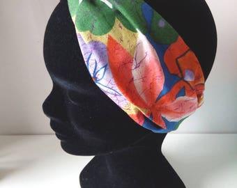 Exotic flowers headband