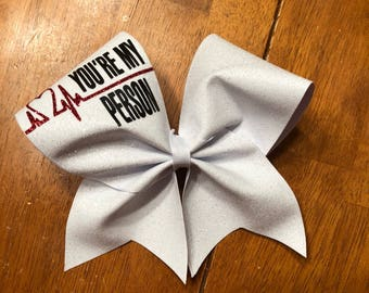 You're my Person Greys Anatomy Bow