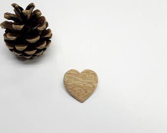 """Brooch """"little heart wood"""""""