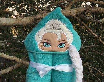 Elsa Inspired Hooded Bath Towel