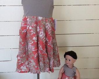 Size 3/4 Girls upcycled dress
